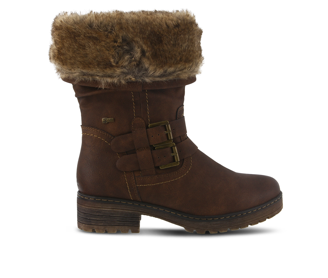 SPRING STEP Comatulla Women's Boots (Brown Faux Leather)