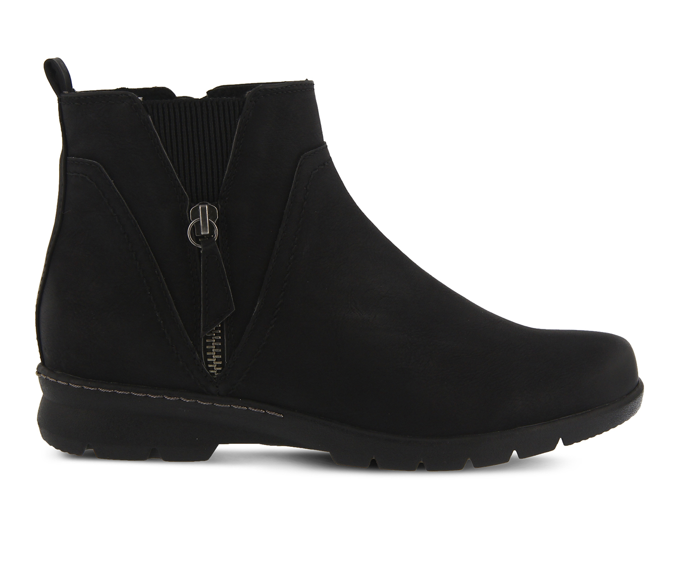 SPRING STEP Yili Women's Boots (Black Faux Leather)