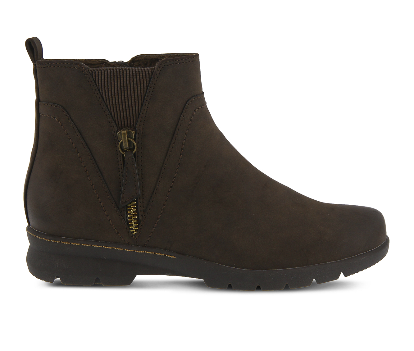 SPRING STEP Yili Women's Boots (Brown Faux Leather)