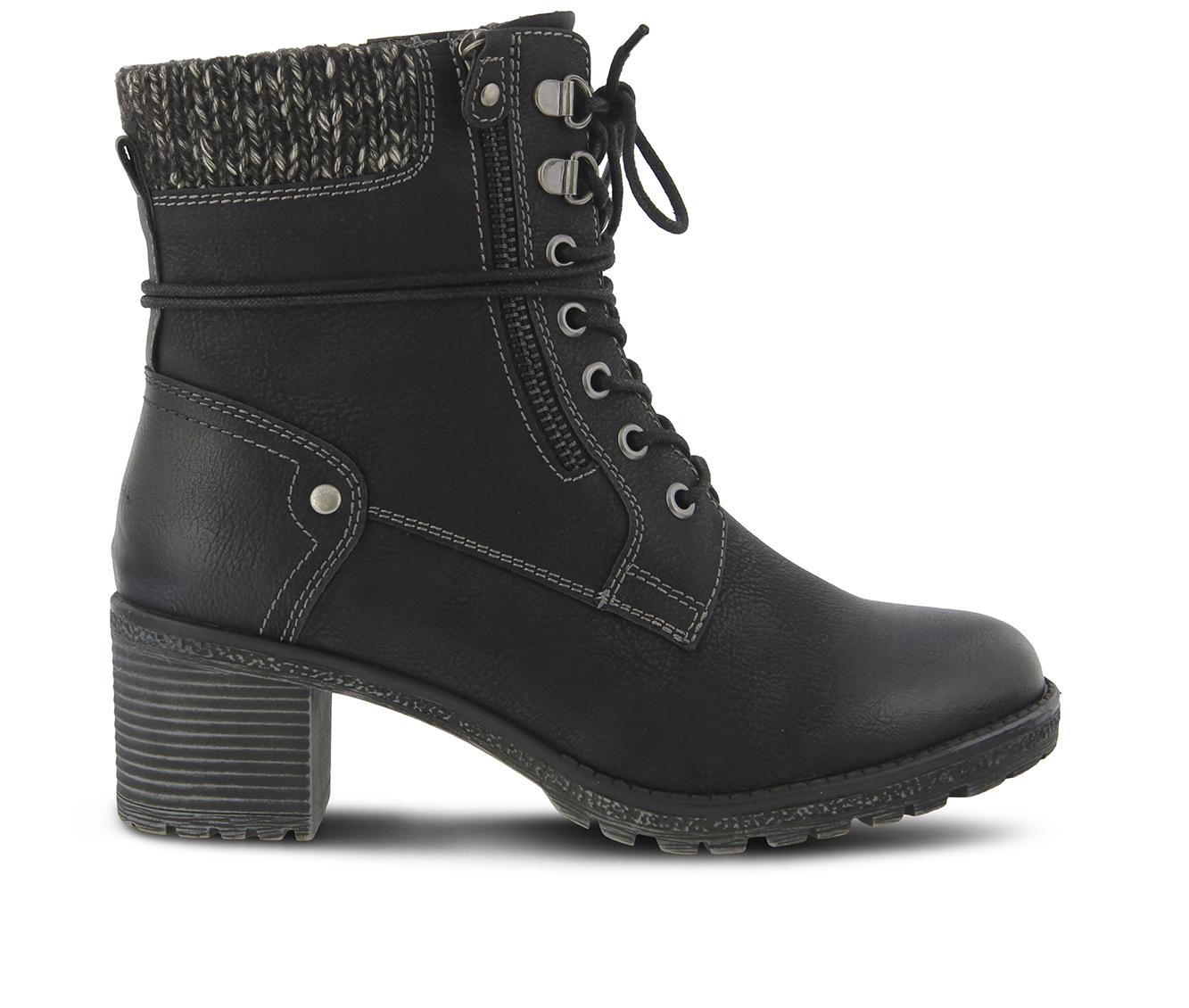 SPRING STEP Hellewn Women's Boots (Black Canvas)