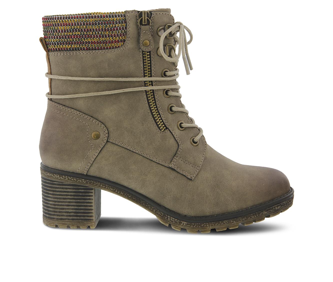 SPRING STEP Hellewn Women's Boots (Beige Canvas)