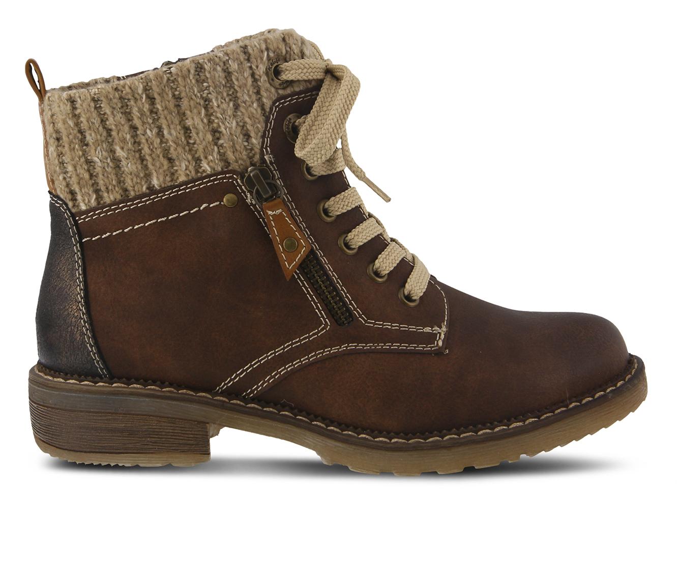 SPRING STEP Khazera Women's Boots (Brown Canvas)