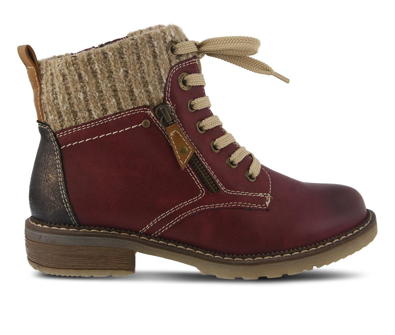 SPRING STEP Khazera Women's Boots (Red Canvas)