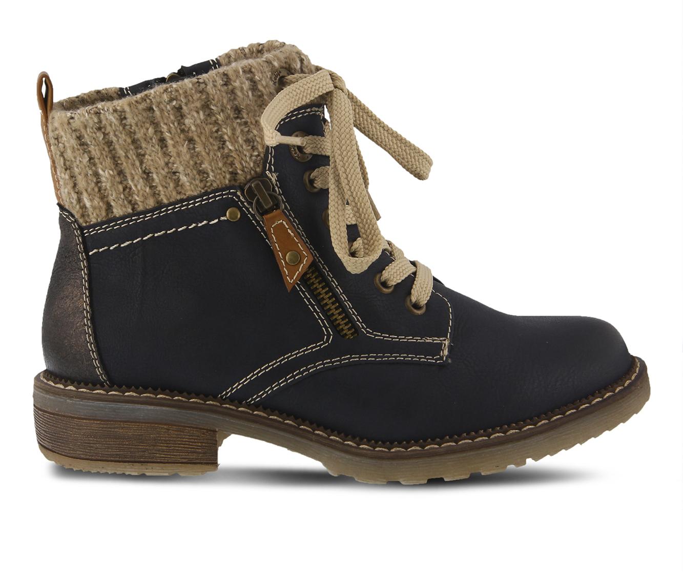 SPRING STEP Khazera Women's Boots (Blue Canvas)