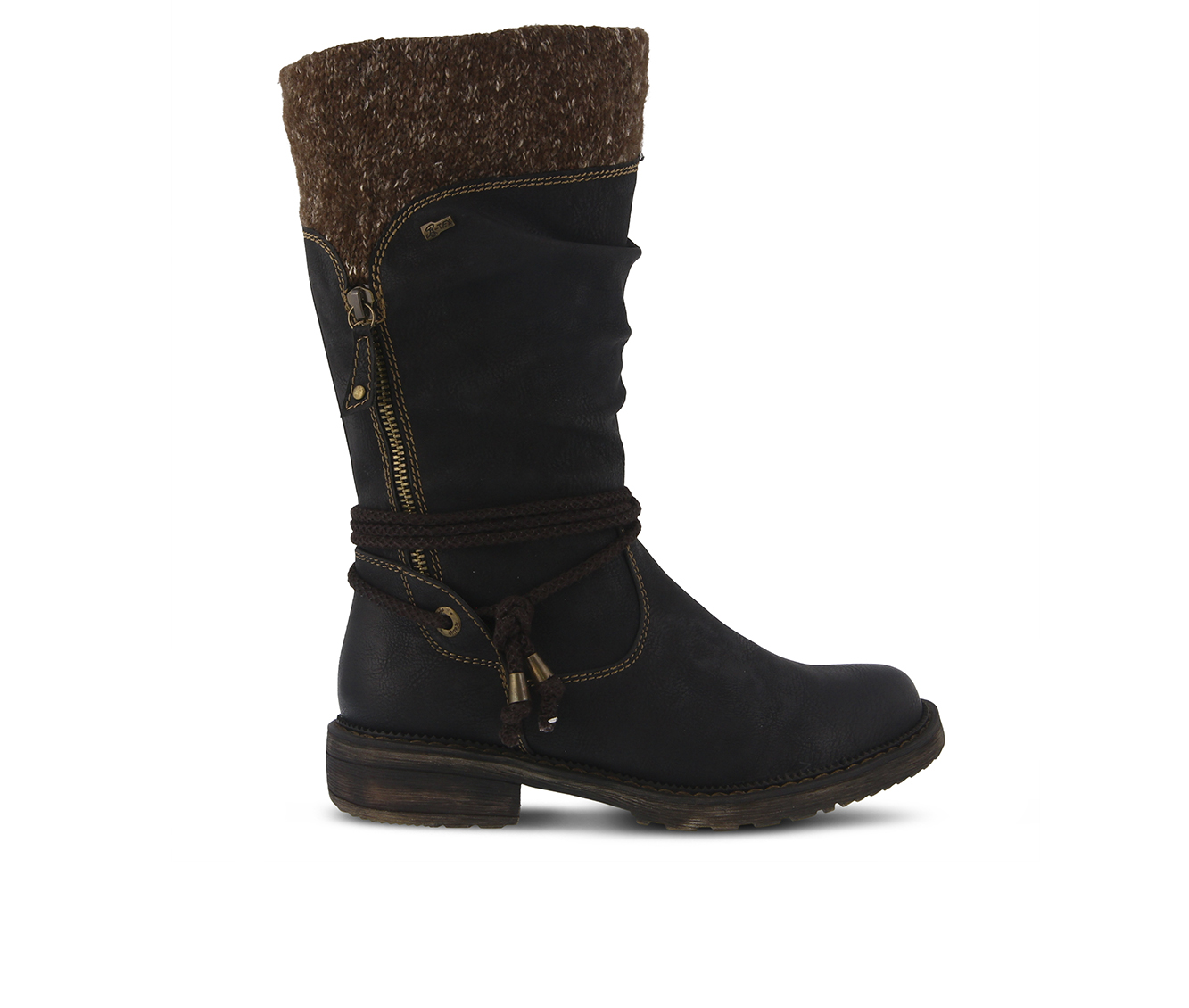 SPRING STEP Acaphine Women's Boots (Black Faux Leather)