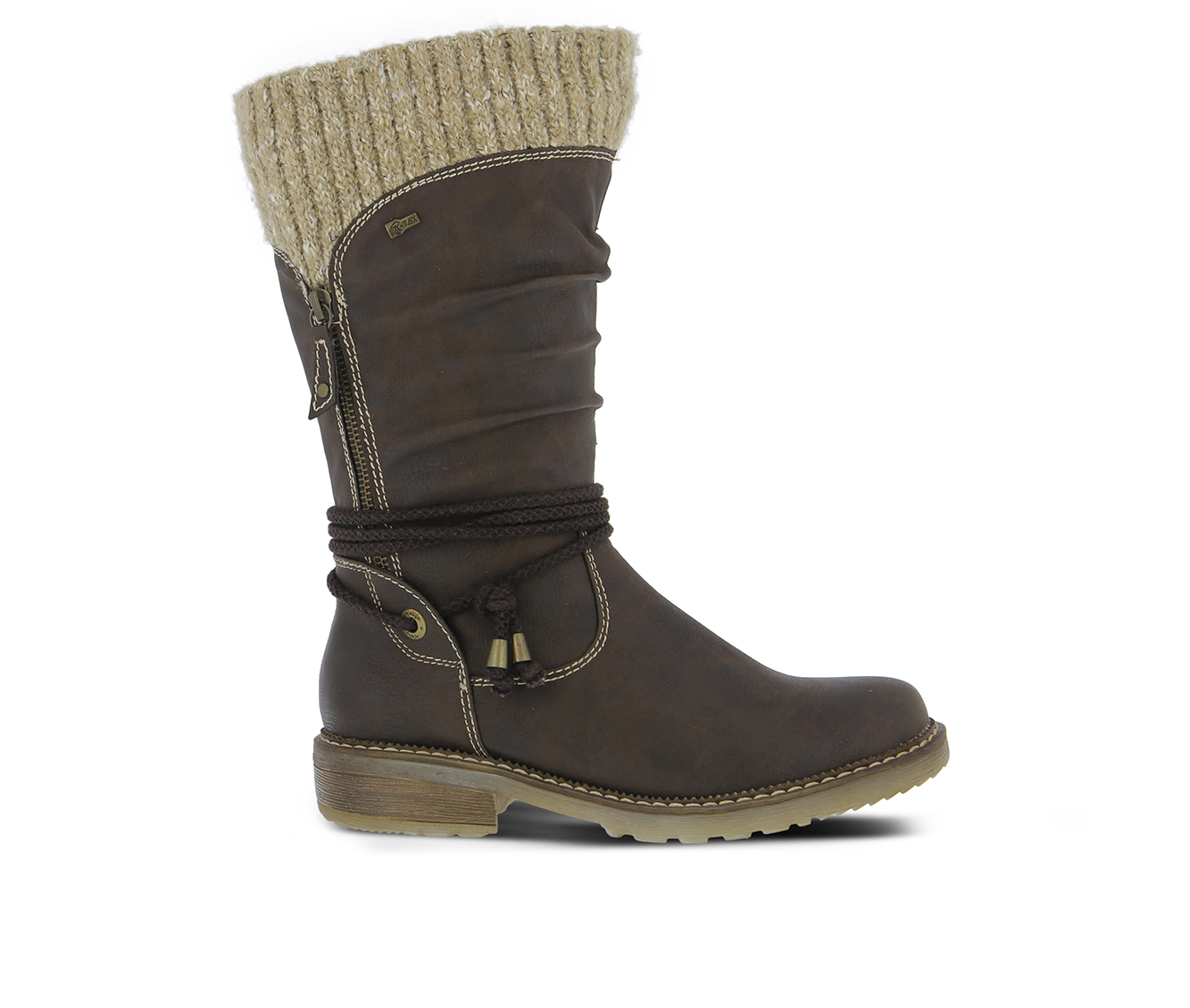 SPRING STEP Acaphine Women's Boots (Brown Faux Leather)