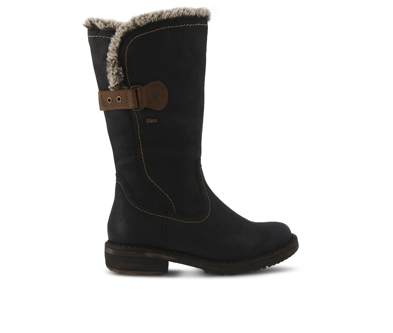 SPRING STEP Cagliari Women's Boots (Black Faux Leather)