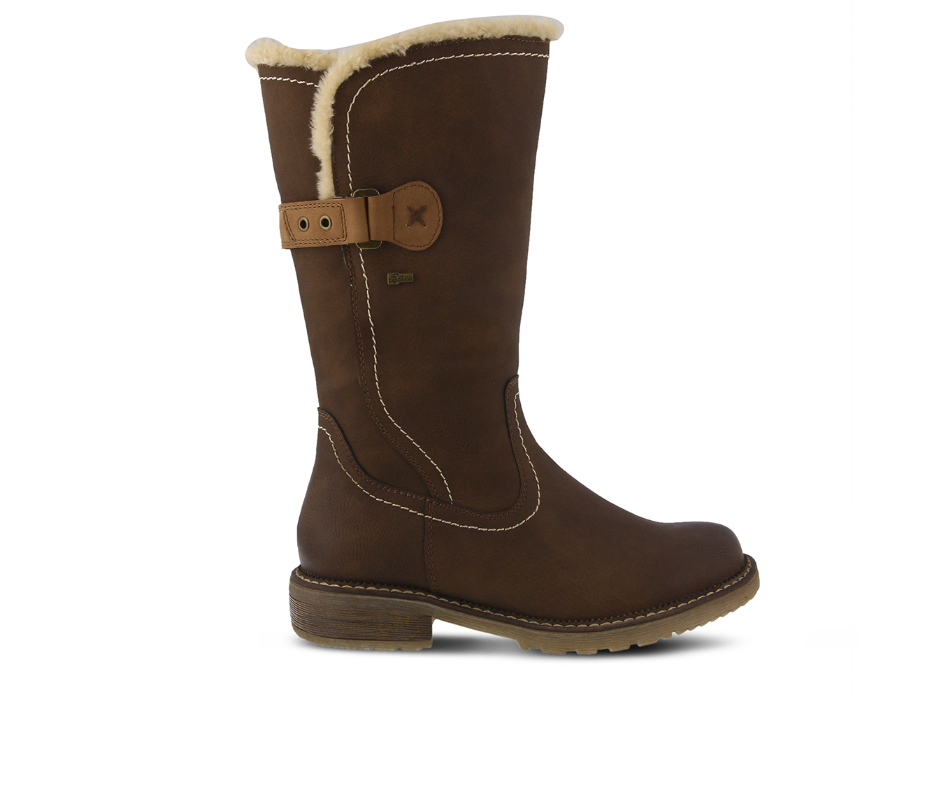 SPRING STEP Cagliari Women's Boots (Brown Faux Leather)