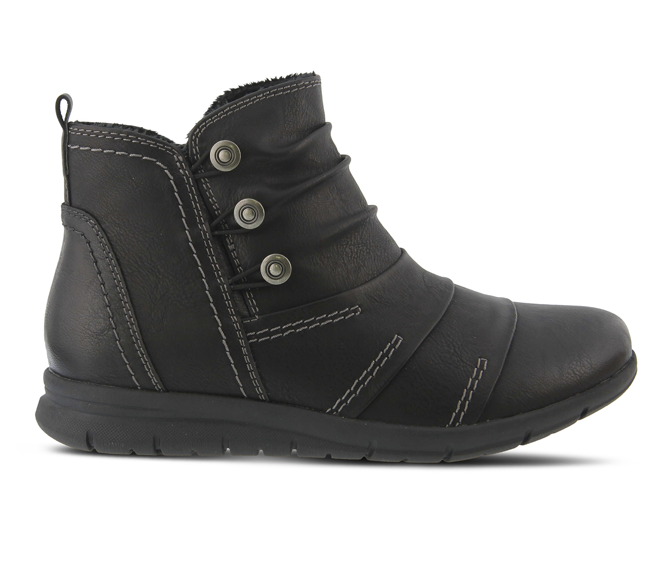 SPRING STEP Anatol Women's Boots (Black Faux Leather)