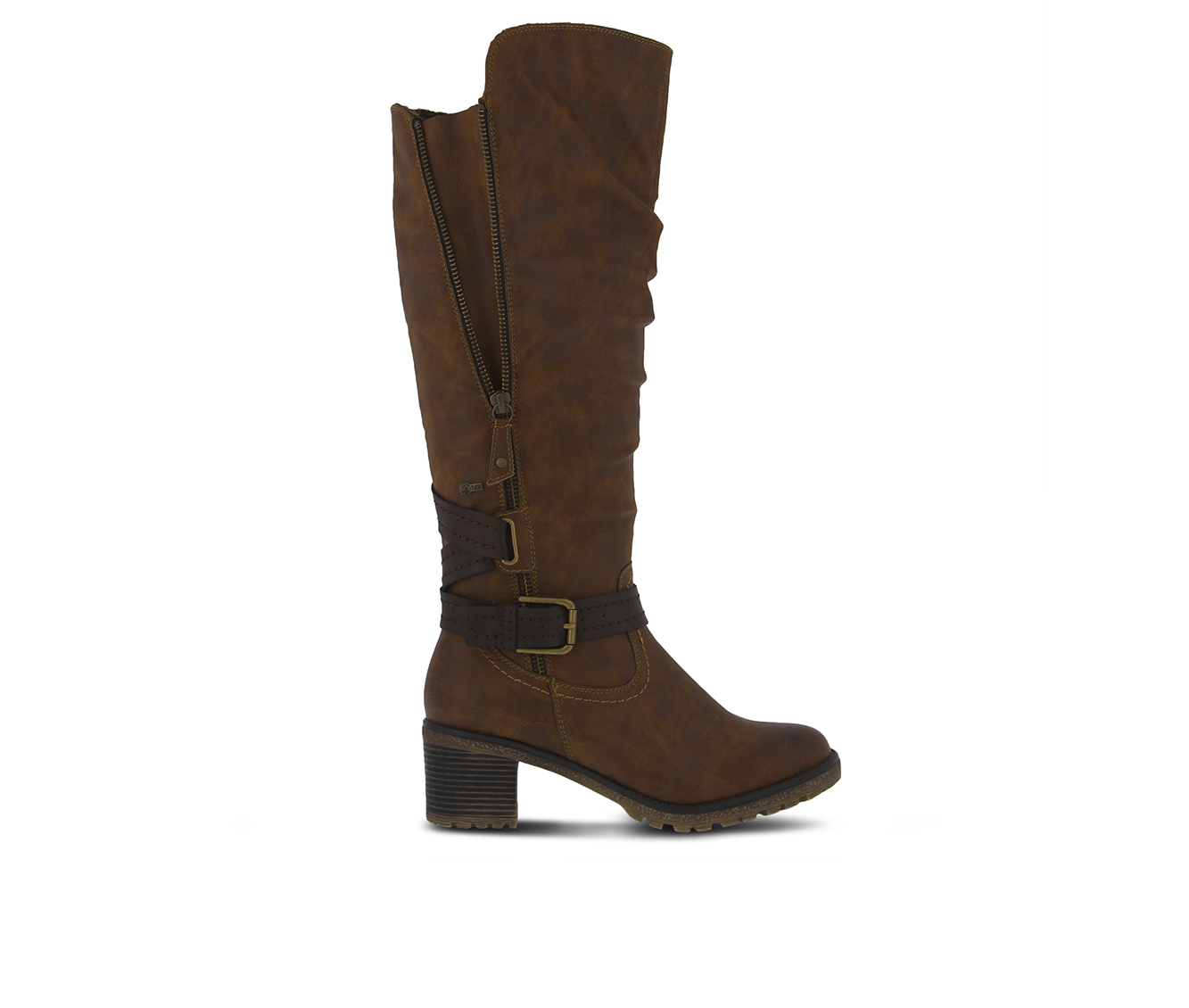 SPRING STEP Gemisola Women's Boots (Brown Faux Leather)