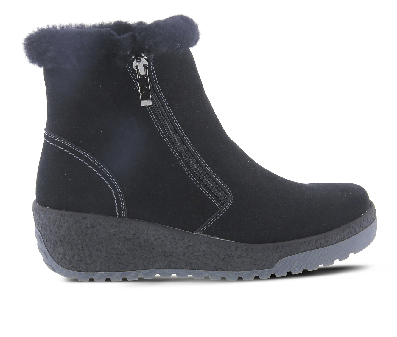 SPRING STEP Lambi Women's Boots (Black Suede)