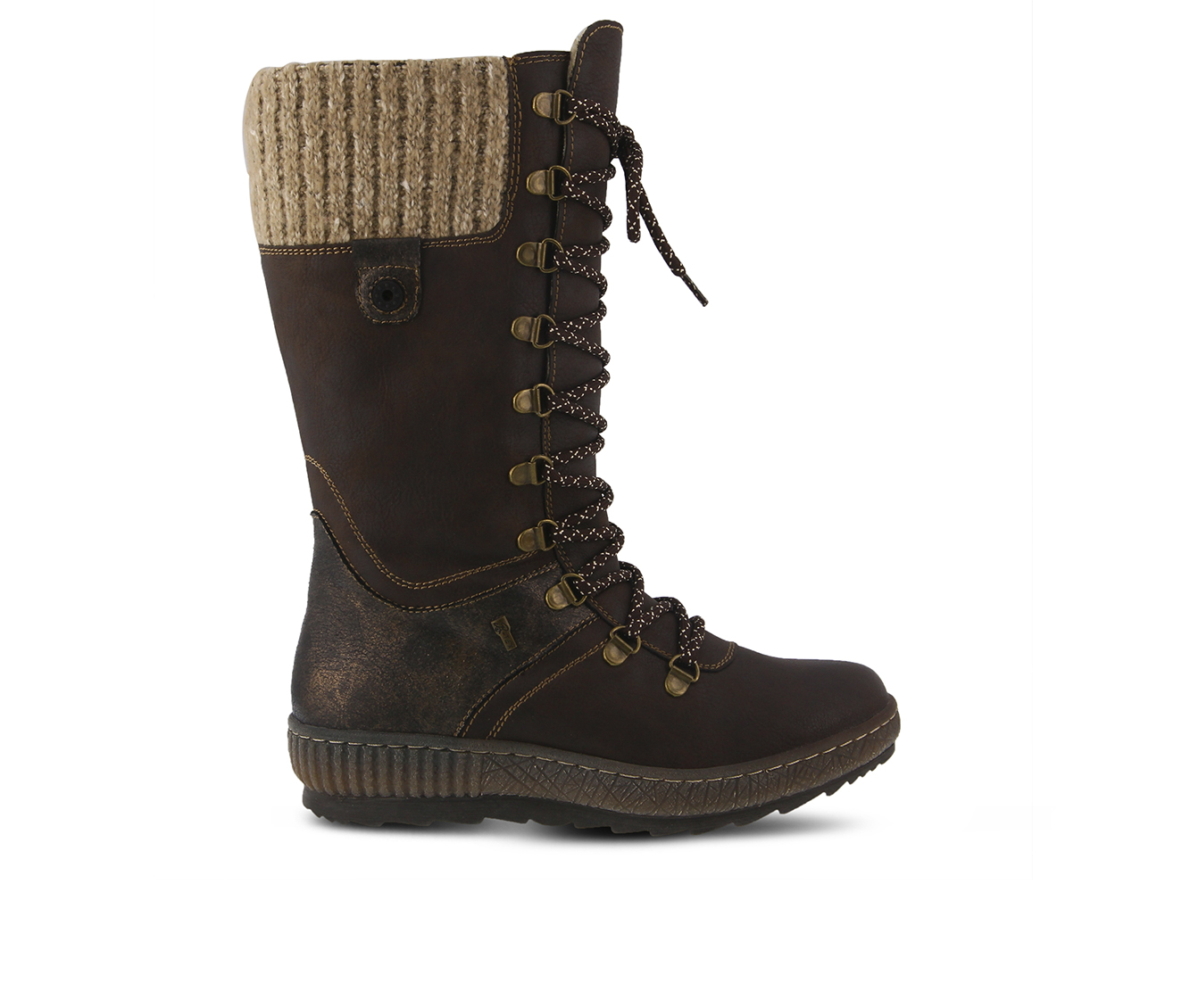 SPRING STEP Chibero Women's Boots (Brown Faux Leather)