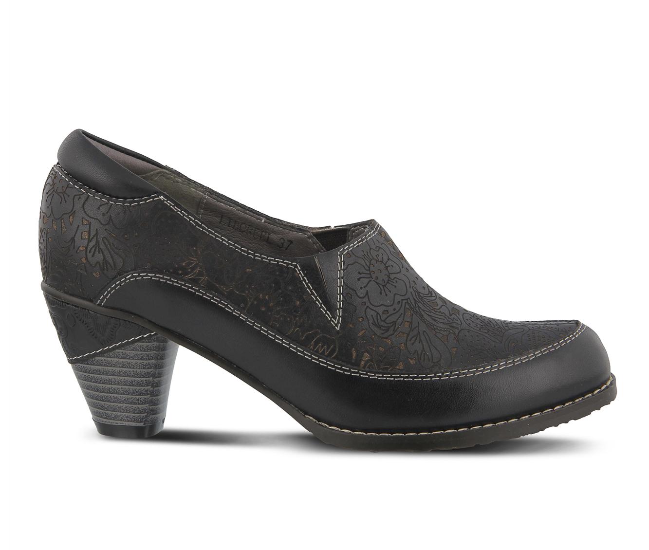 L'Artiste Liboreel Women's Dress Shoe (Black Leather)