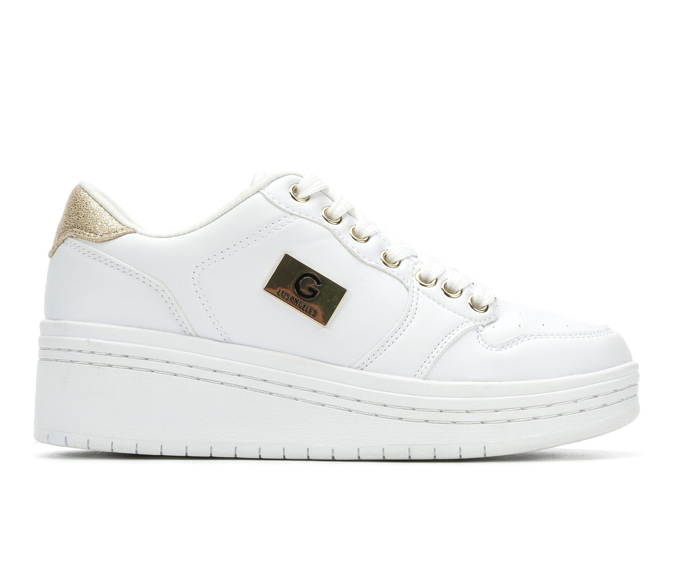 G By Guess Rigster 5 Women's Shoe (White Faux Leather)