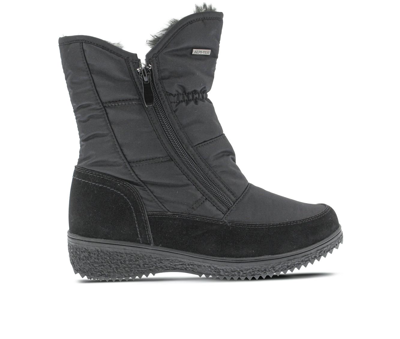 Flexus Ernestina Women's Boots (Black Canvas)
