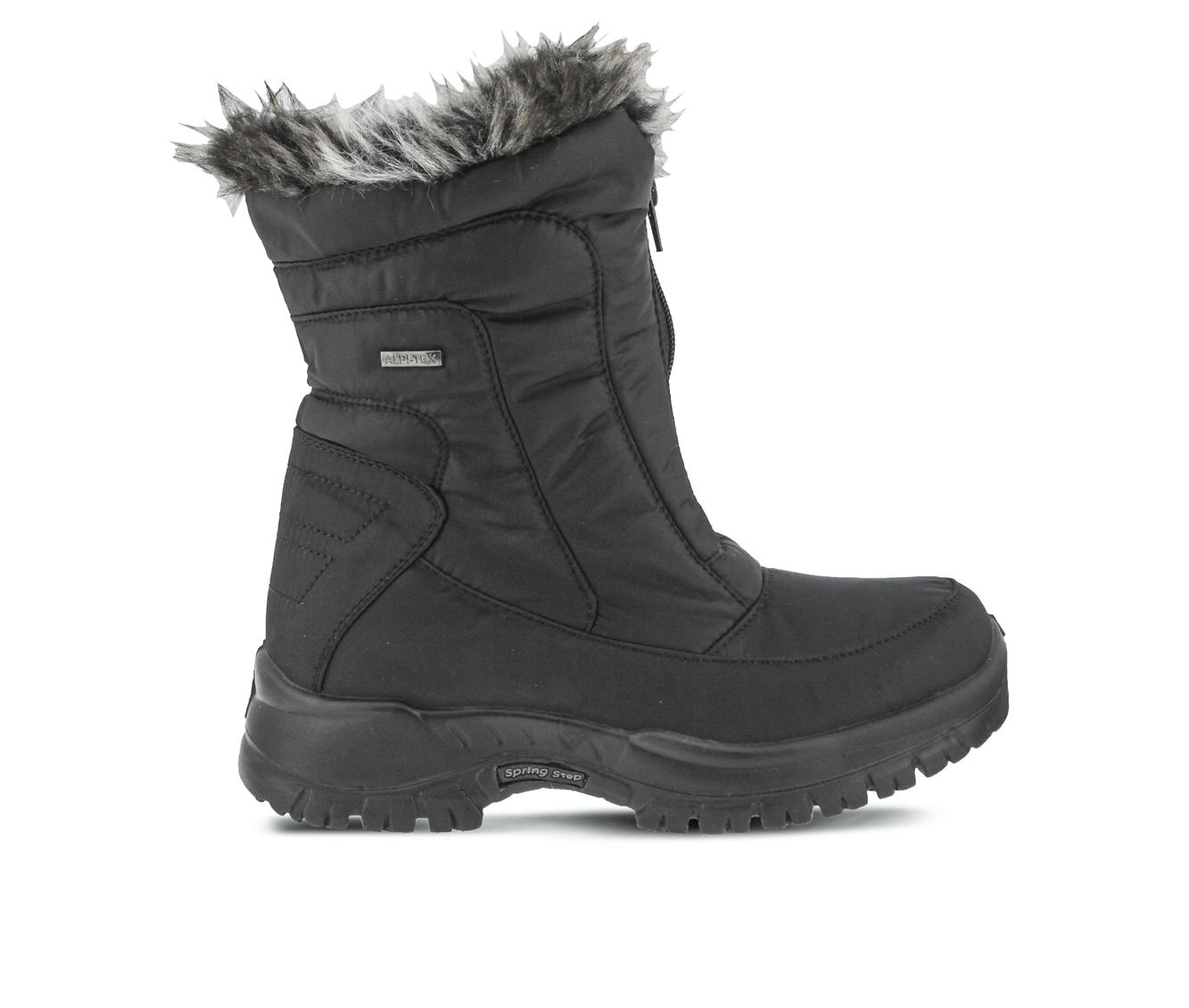Flexus Zigzag Women's Boots (Black Canvas)