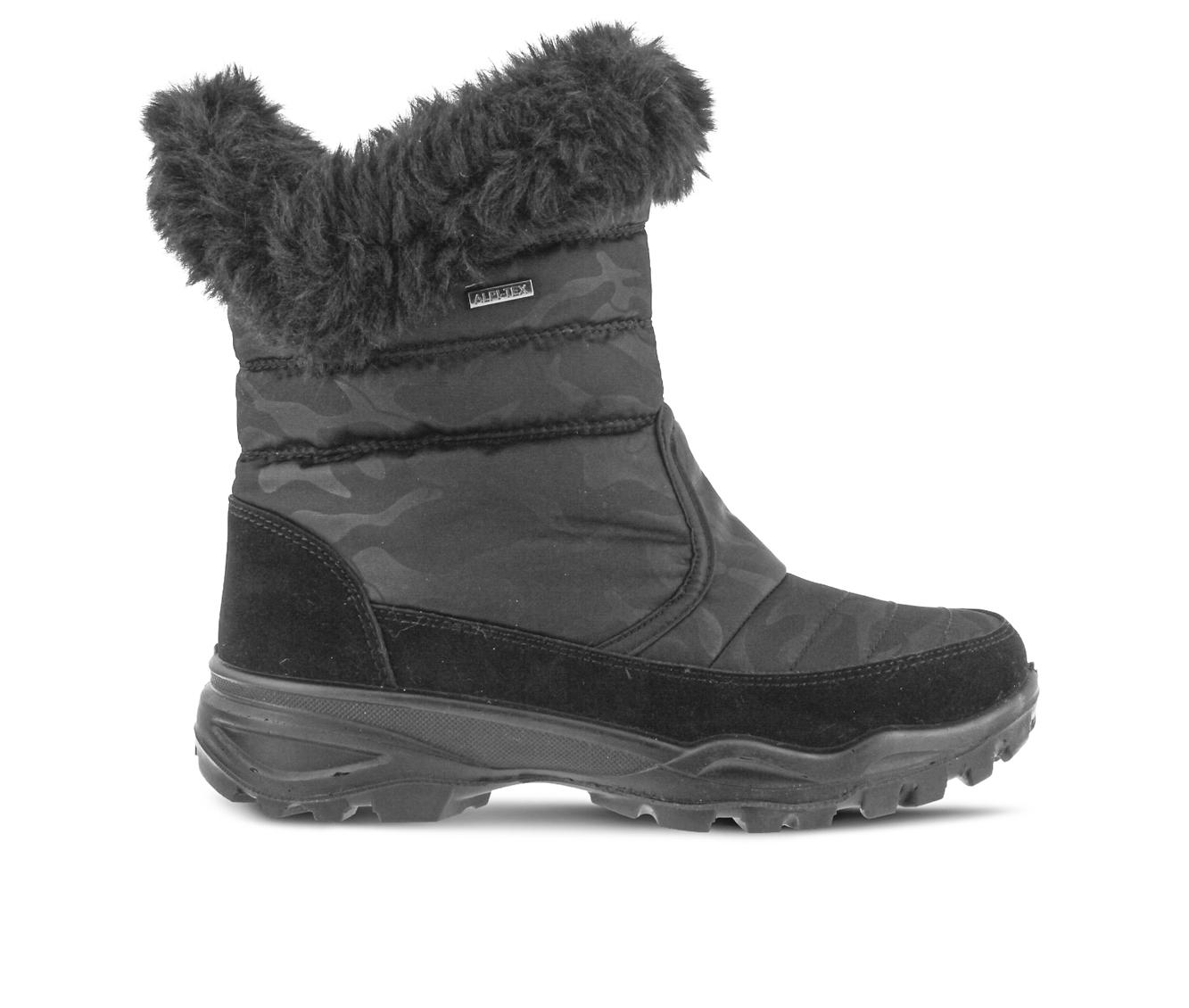Flexus Korine Women's Boots (Black Canvas)