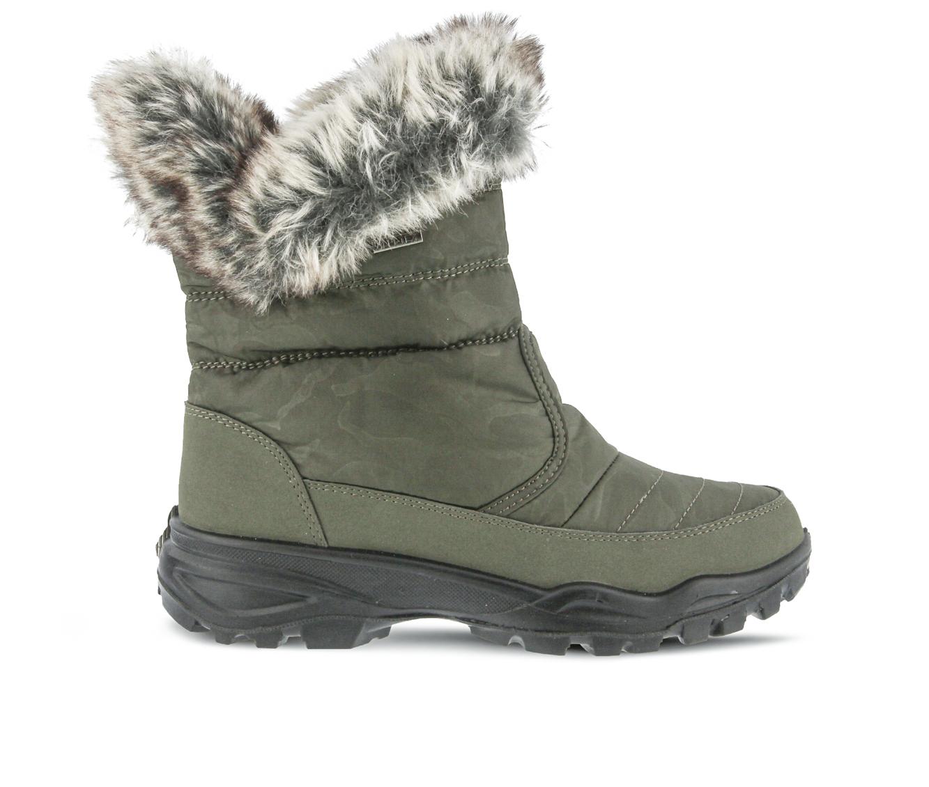 Flexus Korine Women's Boots (Green Canvas)