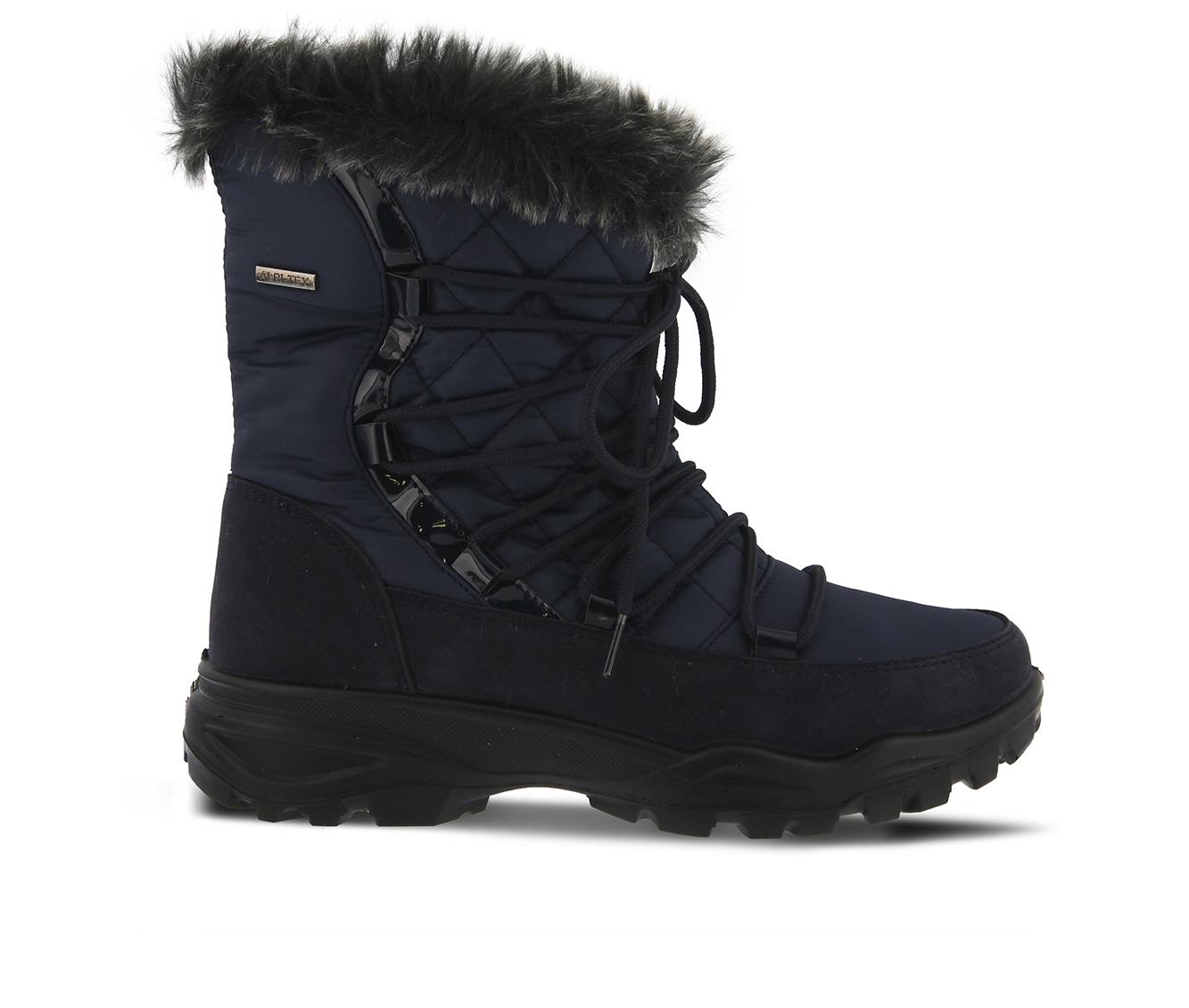 Flexus Denilia Women's Boots (Blue Canvas)