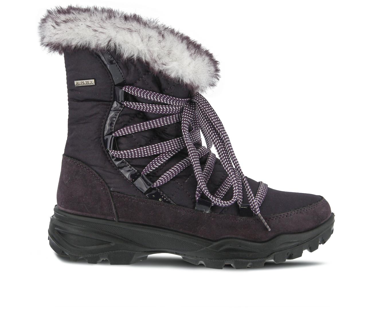 Flexus Denilia Women's Boots (Purple Canvas)