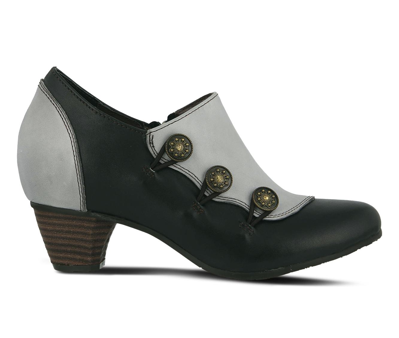 L'Artiste Greentea Women's Dress Shoe (Black Leather)