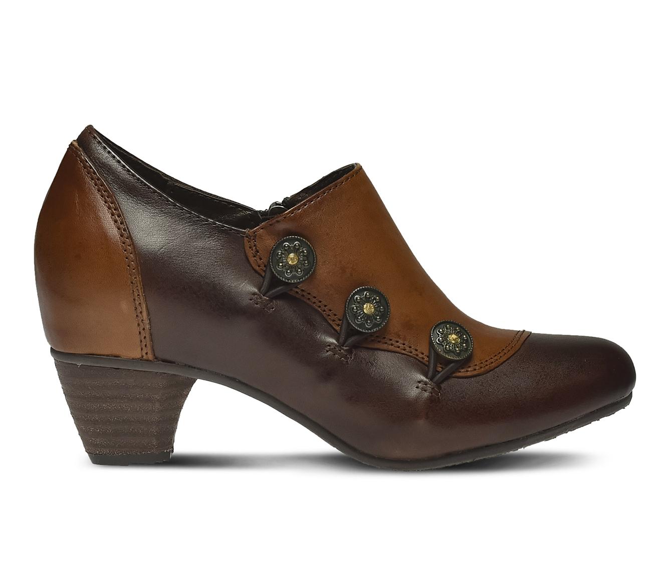 L'Artiste Greentea Women's Dress Shoe (Brown Leather)