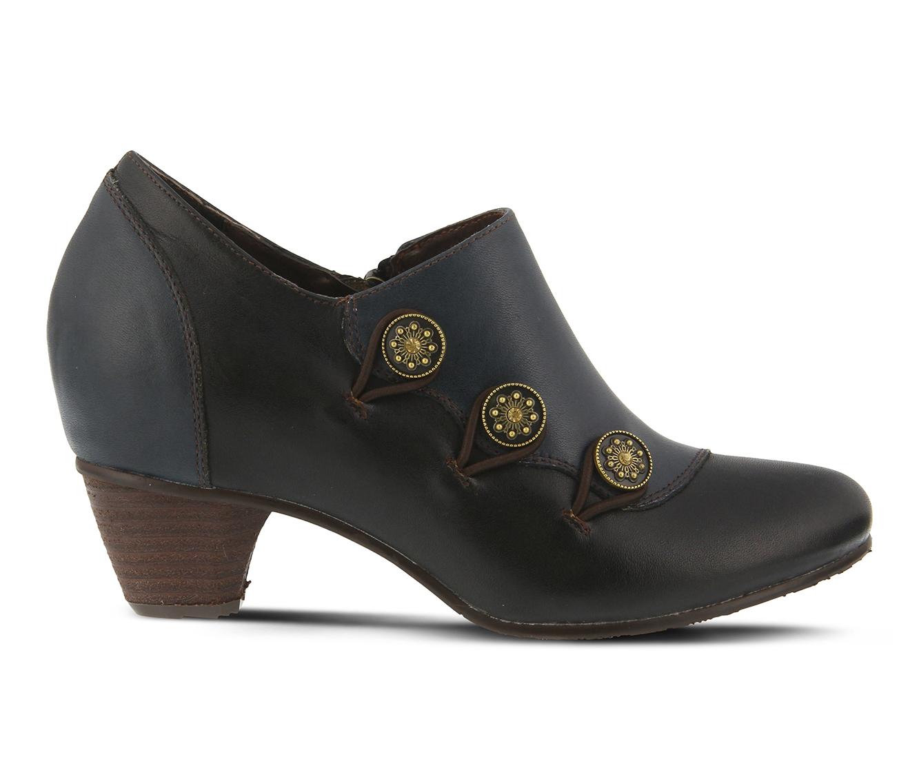 L'Artiste Greentea Women's Dress Shoe (Blue Leather)