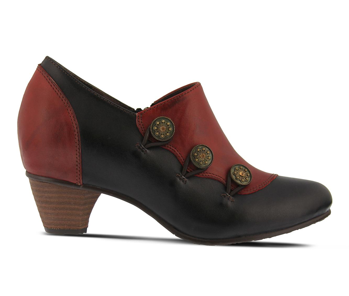 L'Artiste Greentea Women's Dress Shoe (Red Leather)