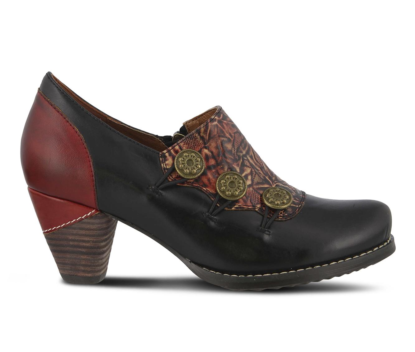 L'Artiste Kantia Women's Dress Shoe (Black Leather)
