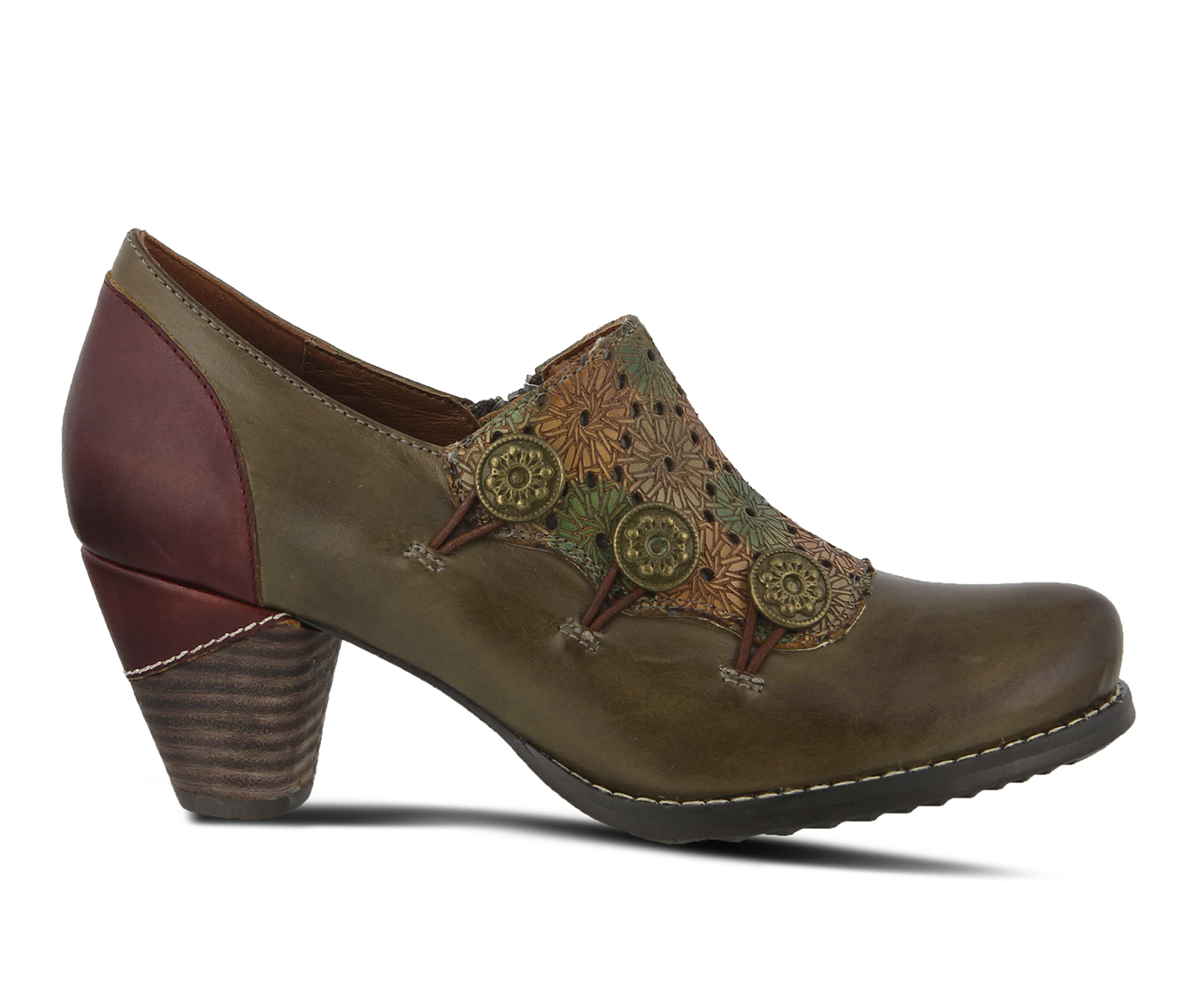 L'Artiste Kantia Women's Dress Shoe (Green Leather)