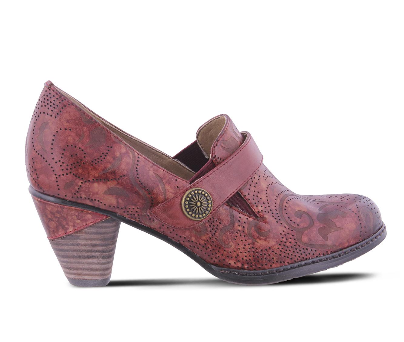 L'Artiste Huekiss Women's Dress Shoe (Red Leather)