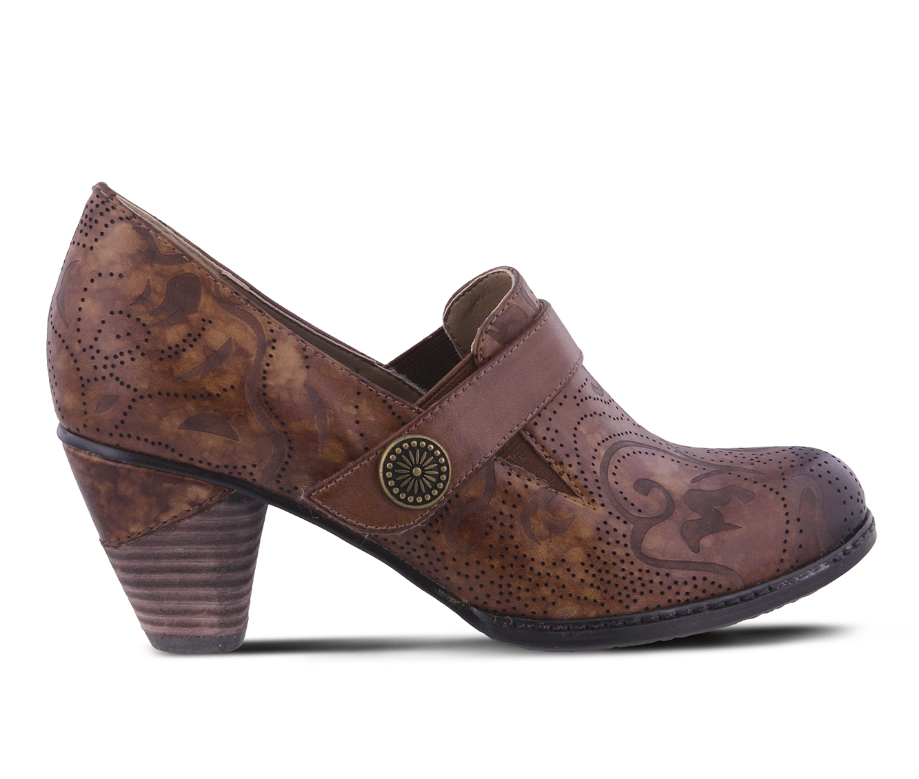 L'Artiste Huekiss Women's Dress Shoe (Brown Leather)