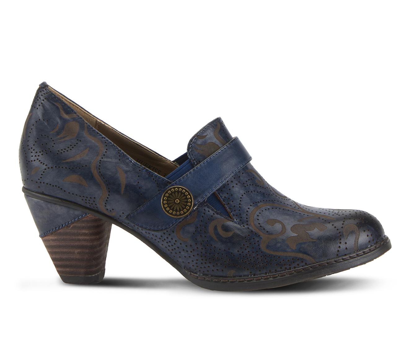L'Artiste Huekiss Women's Dress Shoe (Blue Leather)