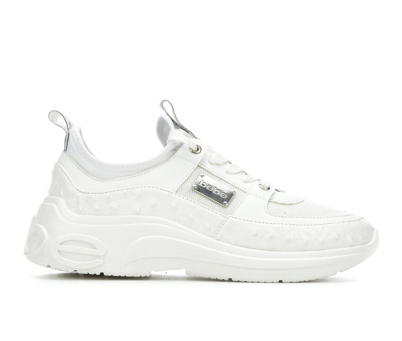 Bebe Sport LeaLea Women's Shoe (White Faux Leather)