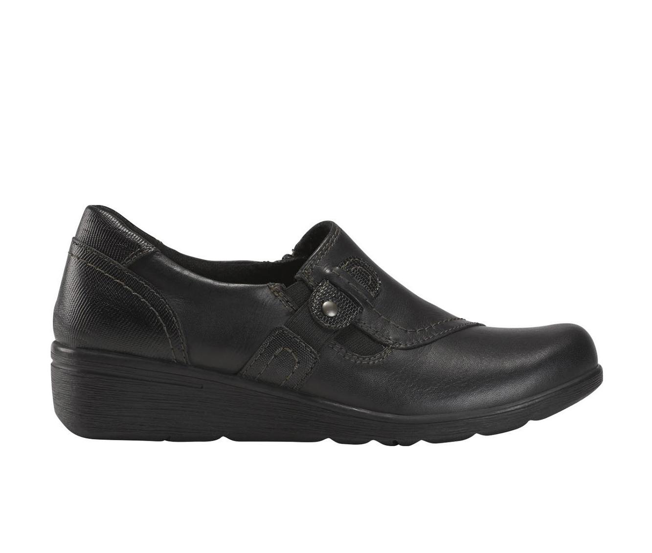 Earth Origins Jane Zena Women's Shoe (Black Leather)