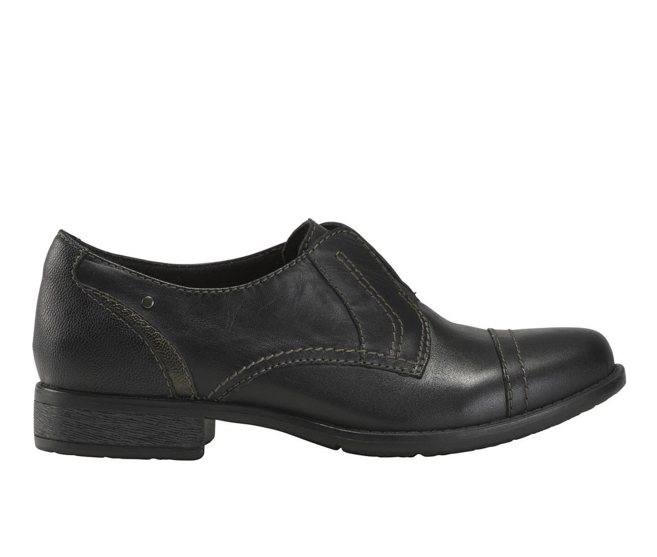 Earth Origins Navigate Nate Women's Shoe (Black Leather)