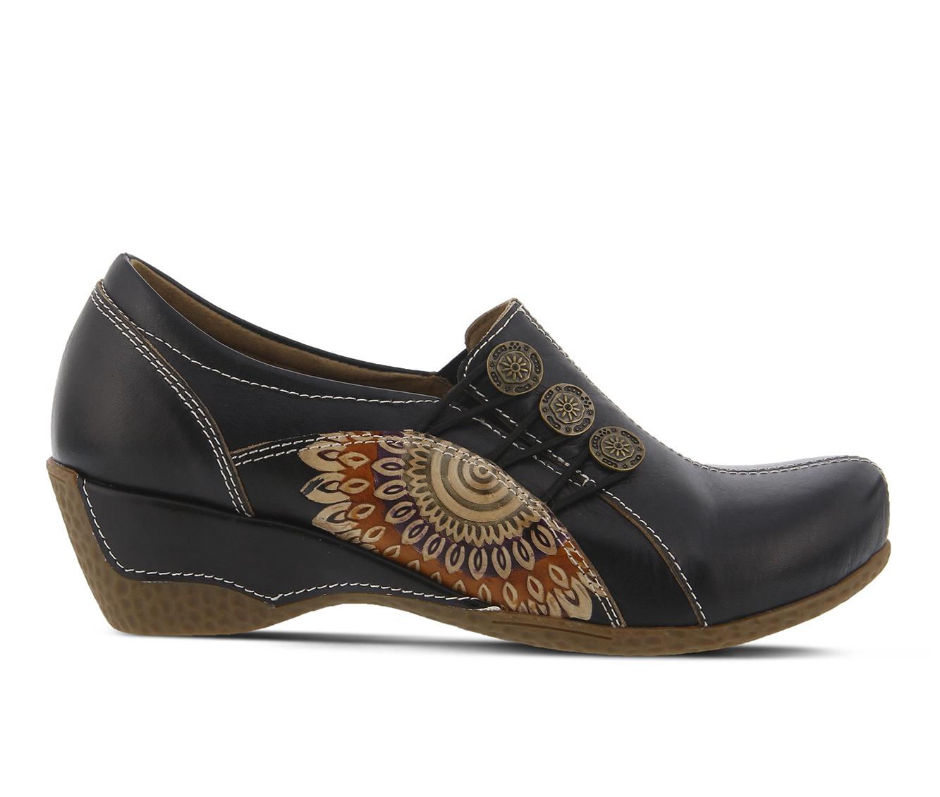L'Artiste Agacia Women's Shoe (Black Leather)