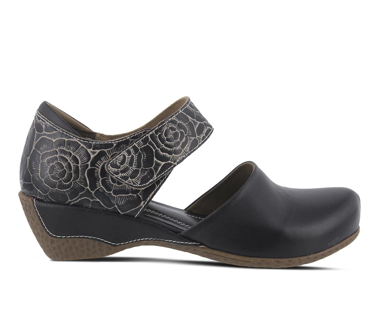 L'Artiste Gloss-Pansy Women's Shoe (Black Leather)
