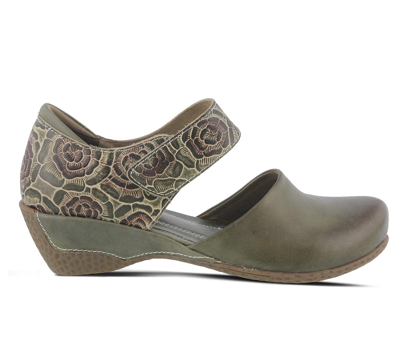 L'Artiste Gloss-Pansy Women's Shoe (Green Leather)