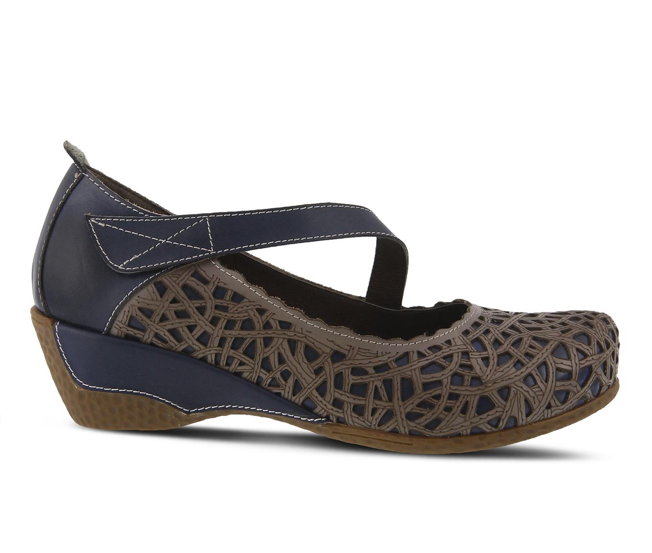 L'Artiste Melinda Women's Shoe (Blue Leather)