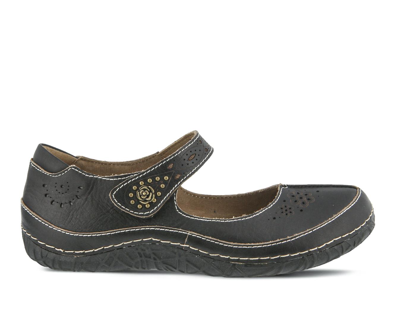 L'Artiste Lazarina Women's Shoe (Black Leather)