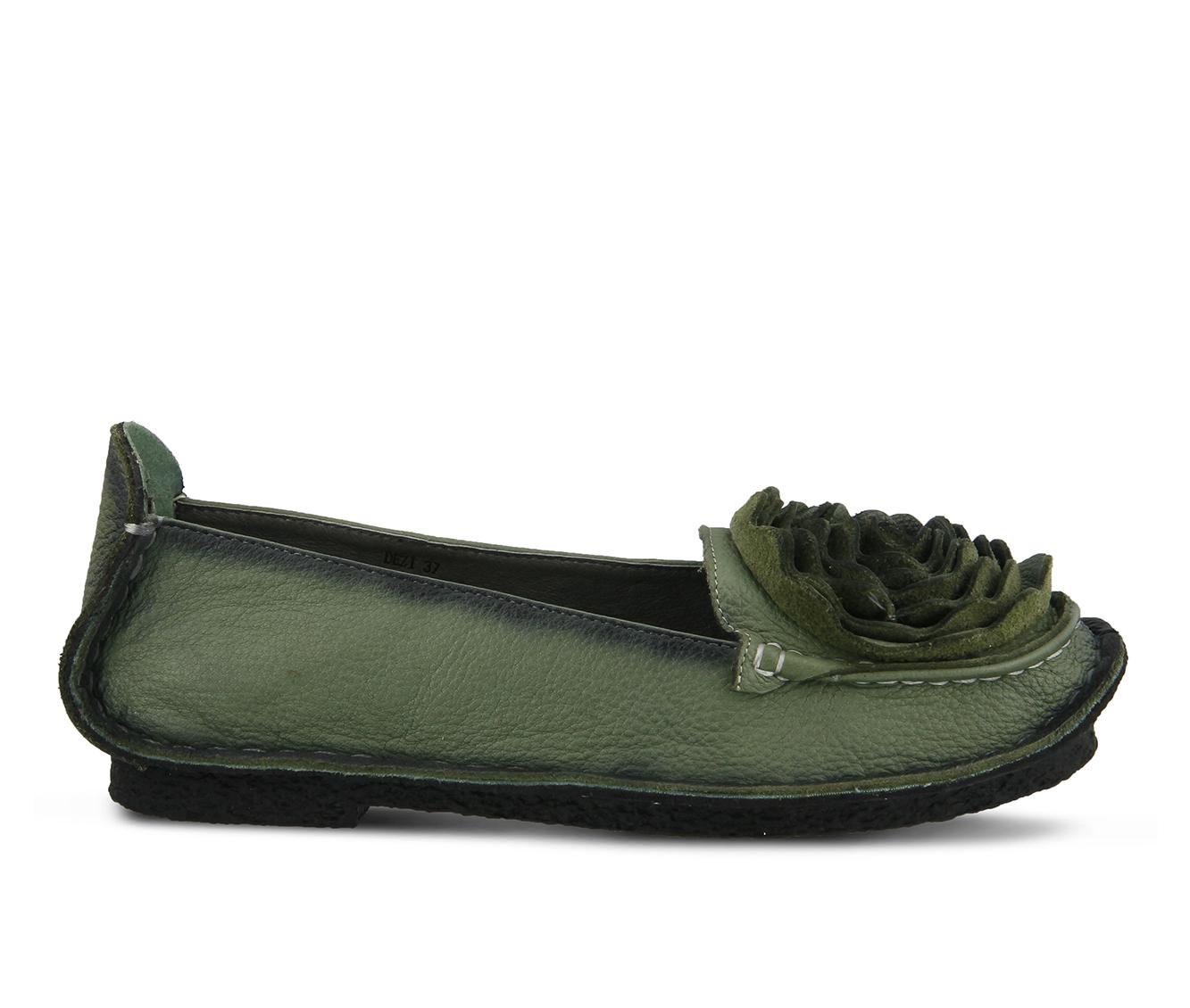 L'Artiste Dezi Women's Shoe (Green Leather)