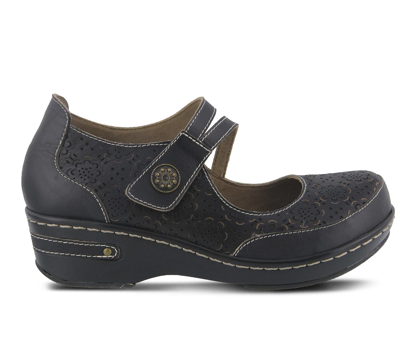L'Artiste Mamata Women's Shoe (Black Leather)