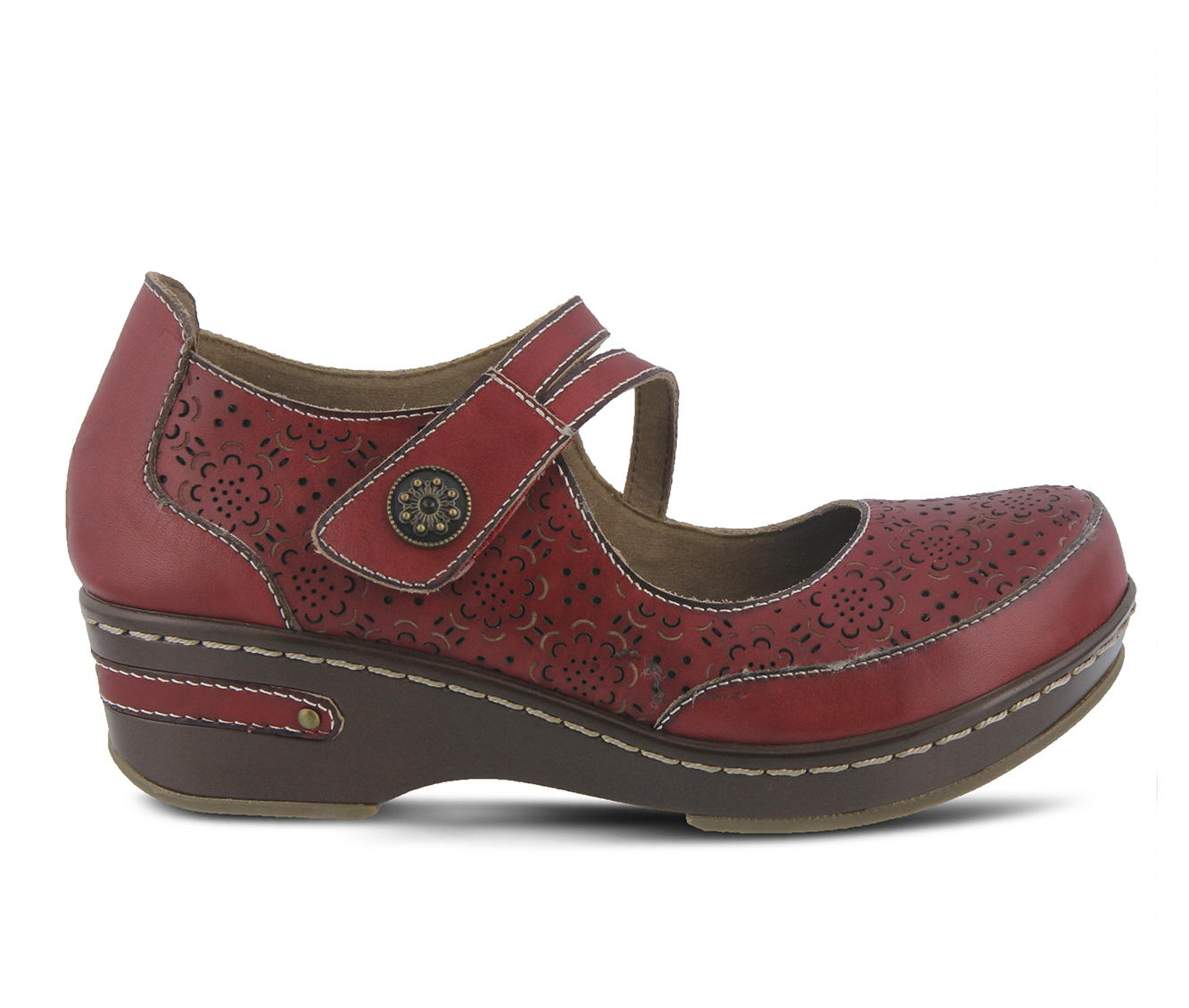 L'Artiste Mamata Women's Shoe (Red Leather)