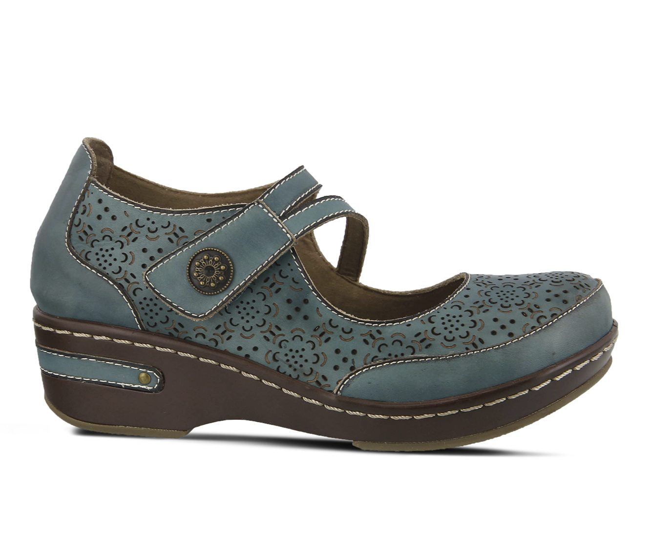 L'Artiste Mamata Women's Shoe (Blue Leather)