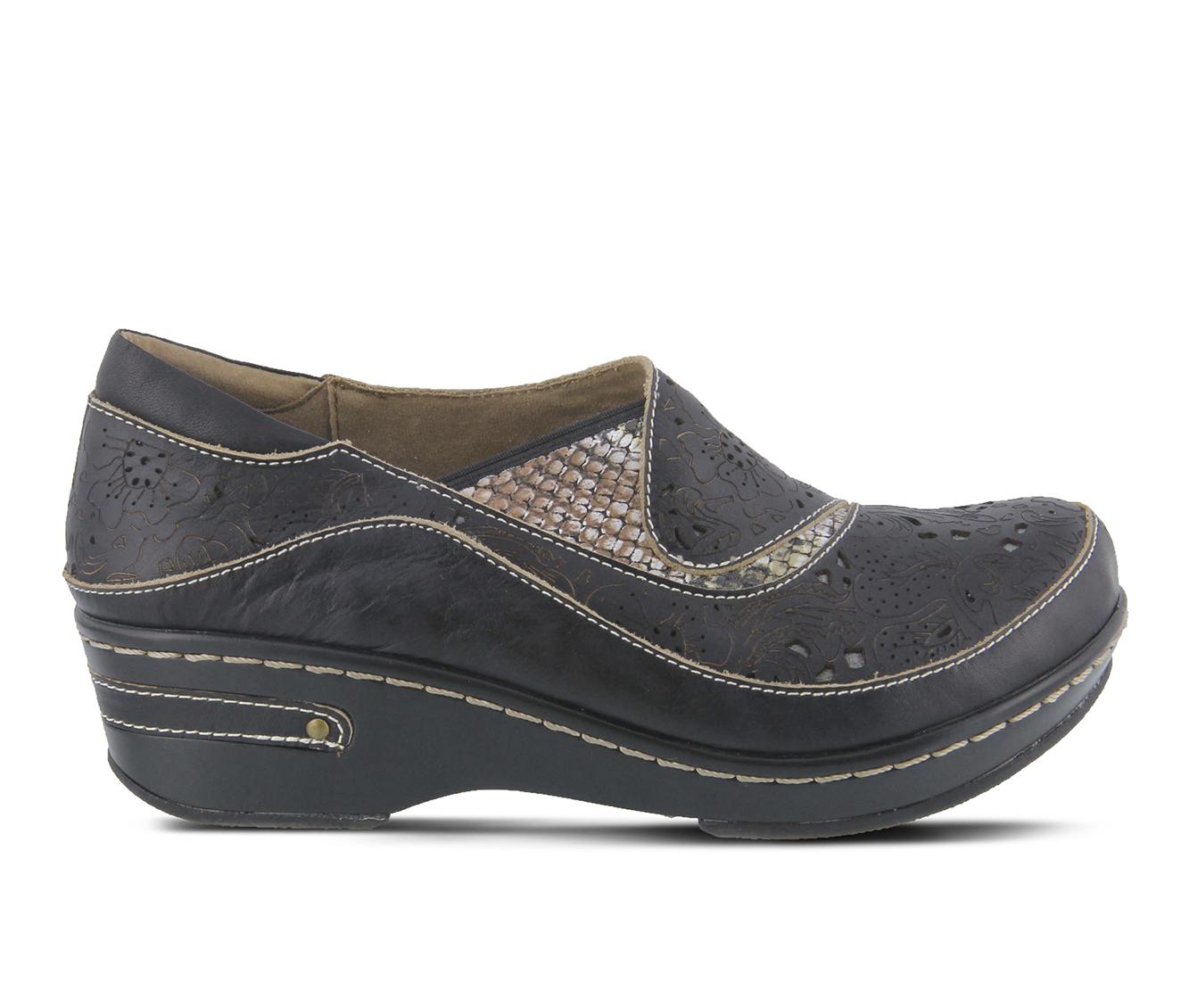 L'Artiste Brankla Women's Shoe (Black Leather)