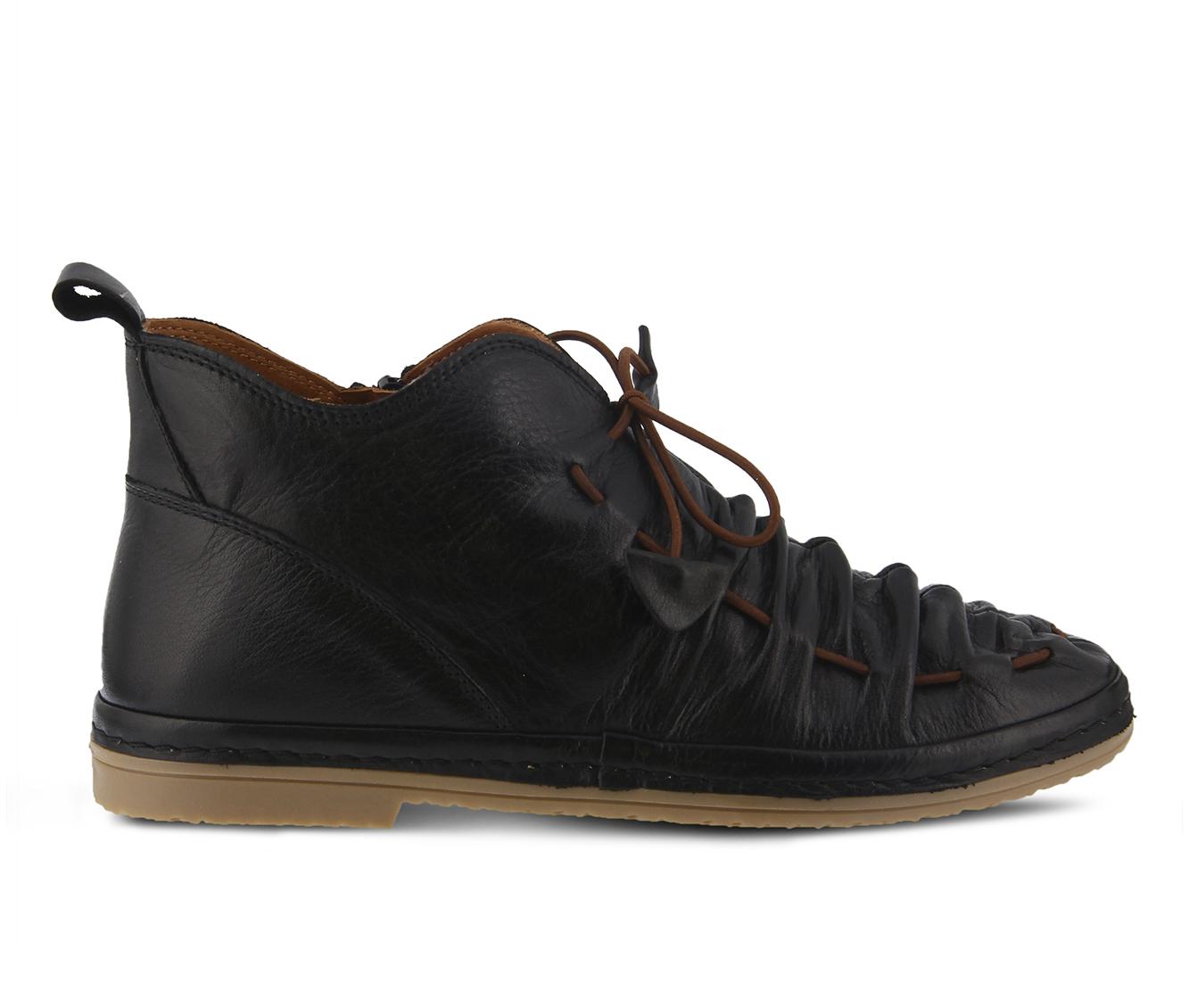 SPRING STEP Nestren Women's Shoe (Black - Leather)