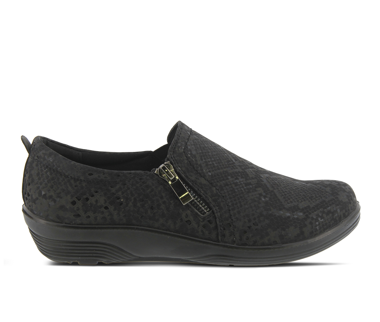 Flexus Mandiella-Rain Women's Shoe (Black Faux Leather)