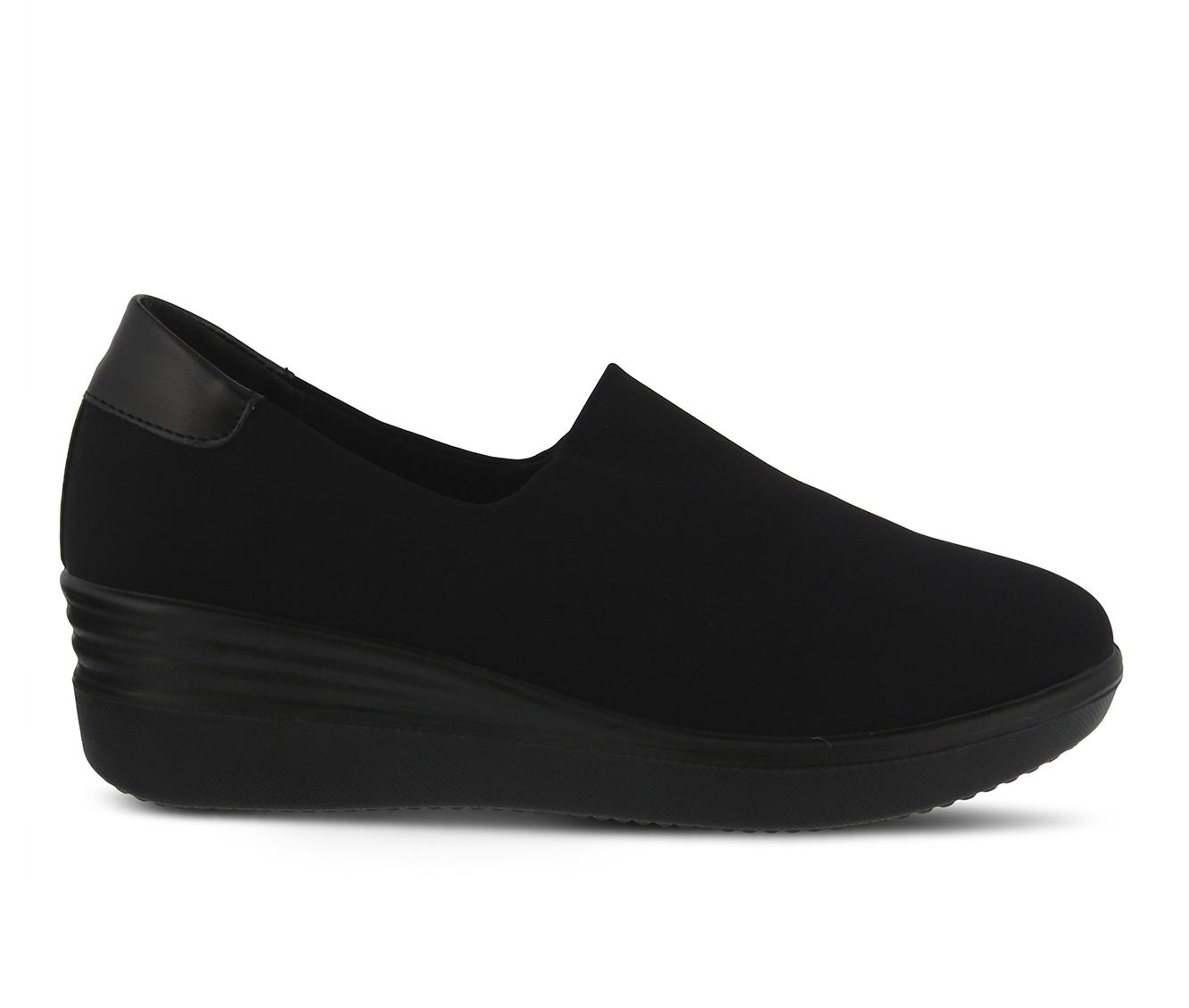 Flexus Noral Women's Shoe (Black Canvas)