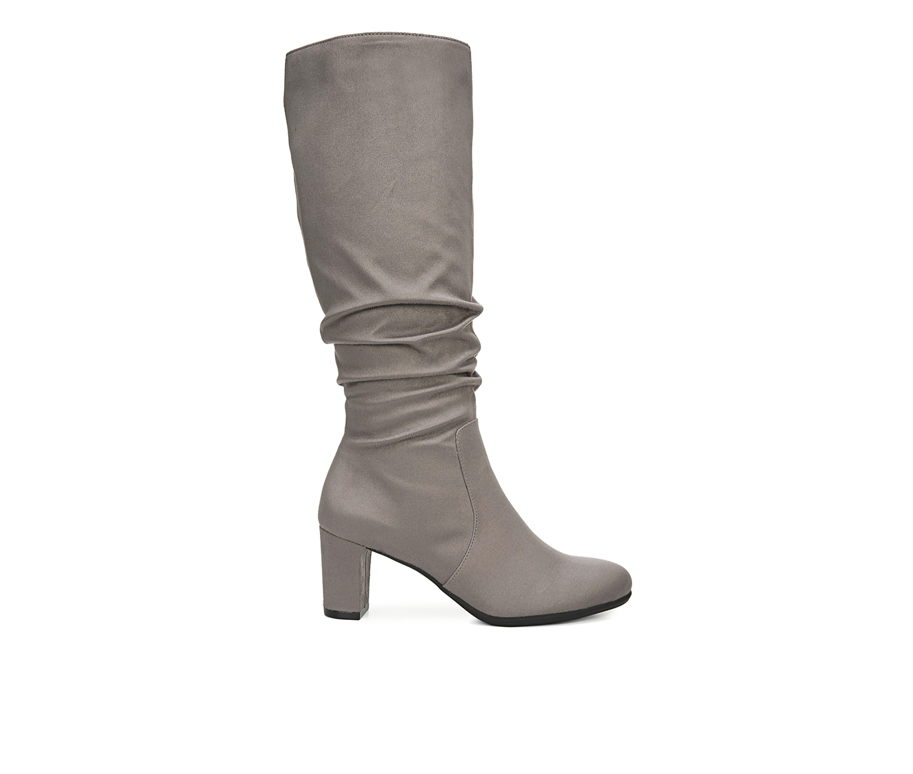 LifeStride Maltese Wide Calf Women's Boots (Gray - Canvas)